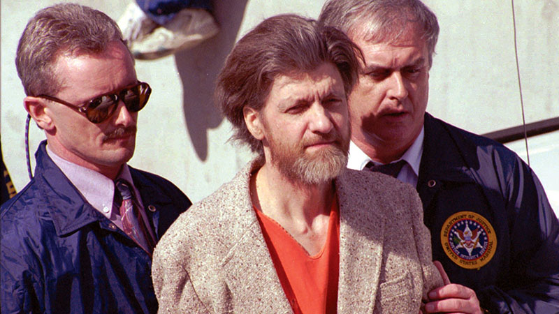 Theodore John Kaczynski, azaz Unabomber, az elfogása után