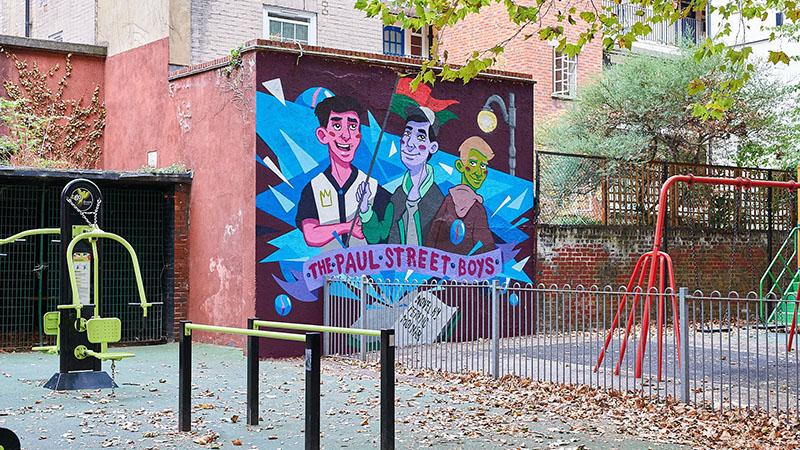Graffiti Angliában a Pál utcai fiúkról