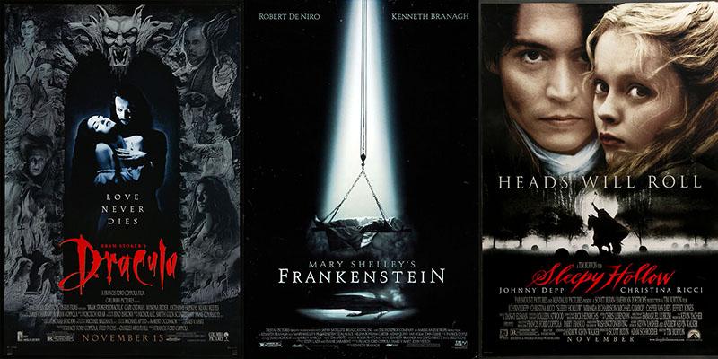 Bram Stoker's Dracula; Mary Shelley's Frankenstein; Az Álmosvölgy legendája