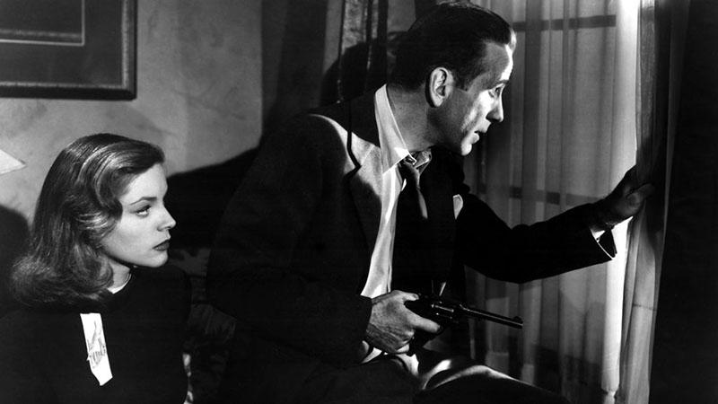 Humphrey Bogart és Lauren Bacall az 1946-os A hosszú álom című filmben