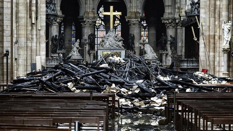 A Notre Dame a tűz után