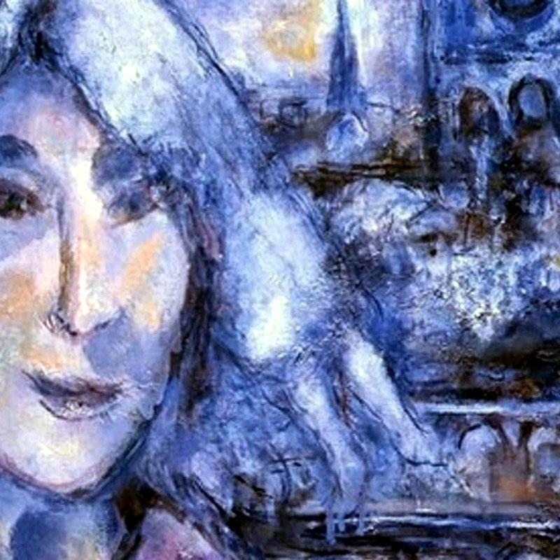 Chagall: Önarckép a Notre-Dame-mal