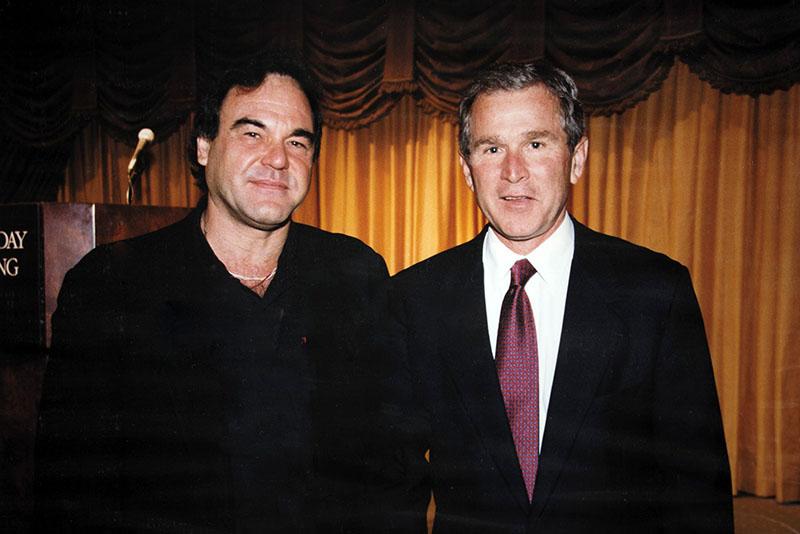 Oliver Stone és George W. Bush