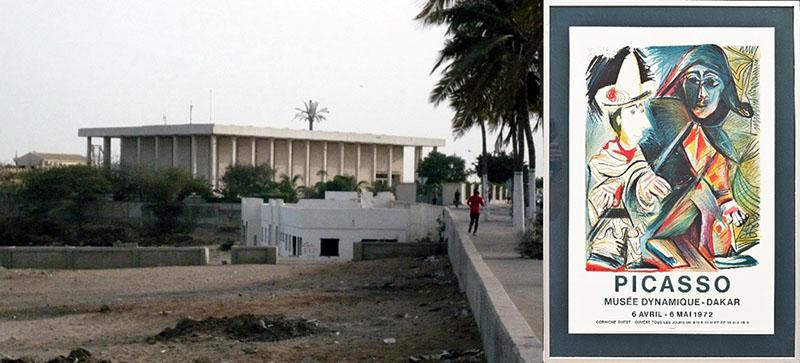 Dakar. Musée Dynamique és a Picasso-kiállítás plakátja