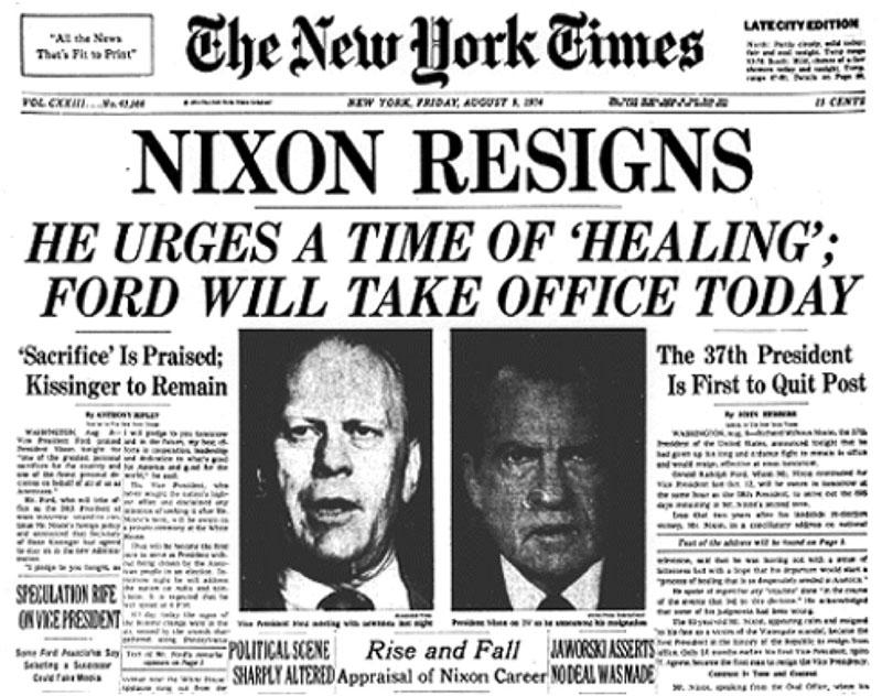A XX. második fele hemzseg a politikai botrányoktól, elsősorban a média oknyomozásainak hála
