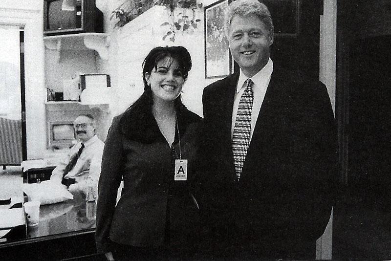 Lewinsky és az elnök a Fehér Házban 1996-ban