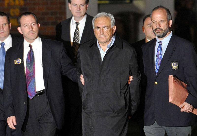 Strauss-Kahn, New yorki letartóztatásakor
