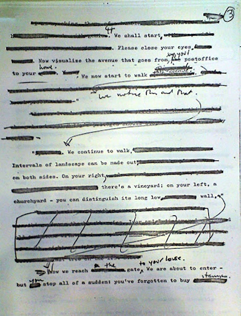 Gordon Lish javításai egy Vladimir Nabokov íráson