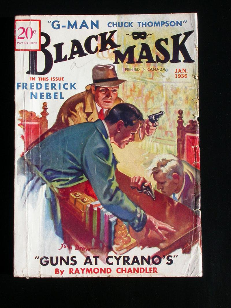 A Black Mask egyik száma benne Chandler írásával