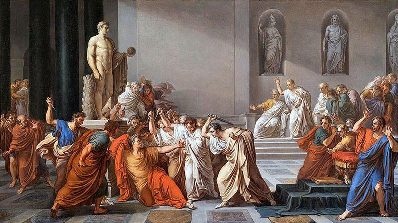 Kr. e. 44-ben szenátorok egy csoportja hívta találkára Ceasart