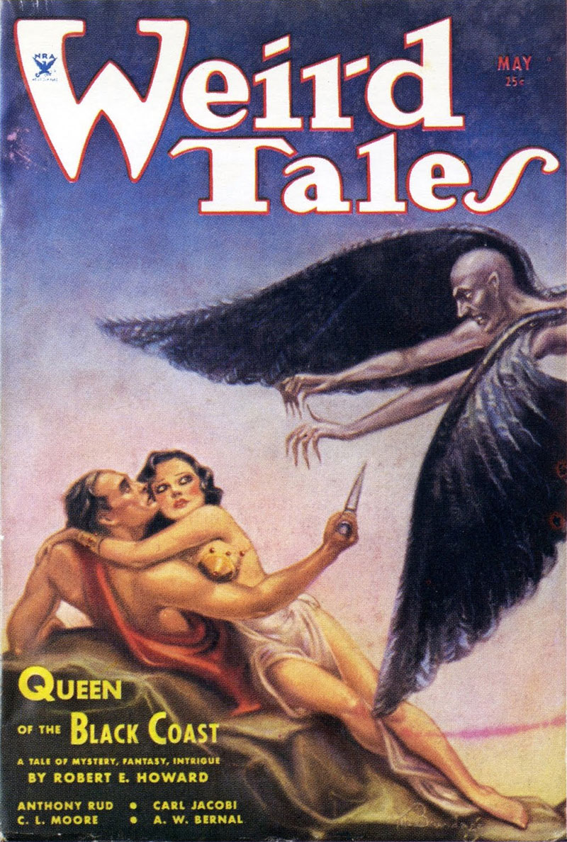 Az első Conan-történet Weird Tales-címlapja