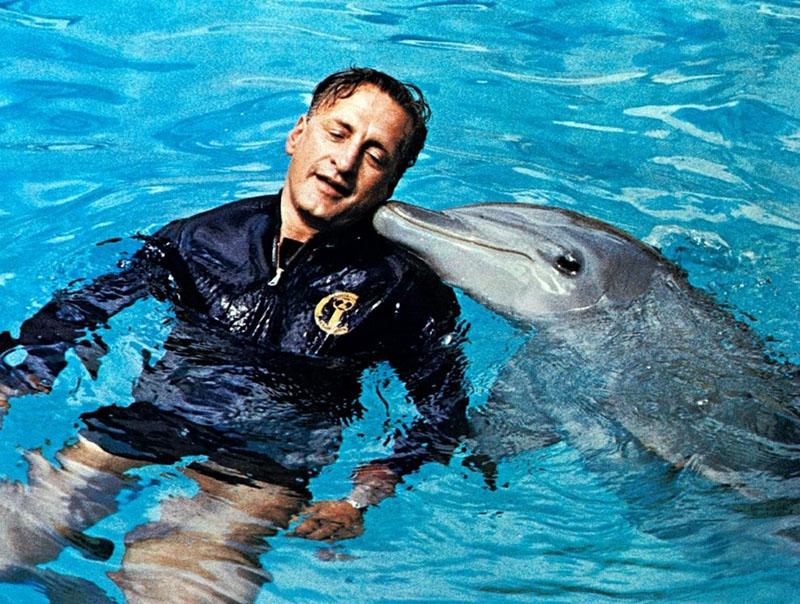 George C. Scott az Állati elmék filmadaptációjában, a Delfin napjában