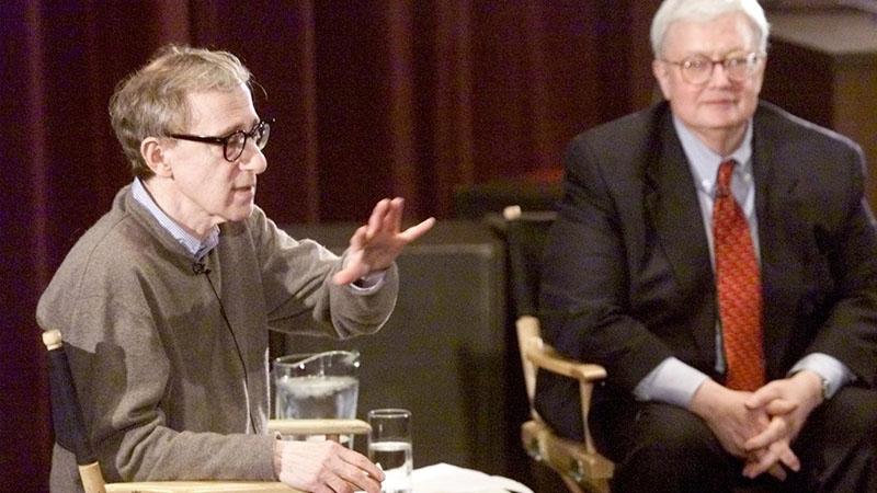 Woody Allennel egy kerekasztal beszélgetésen