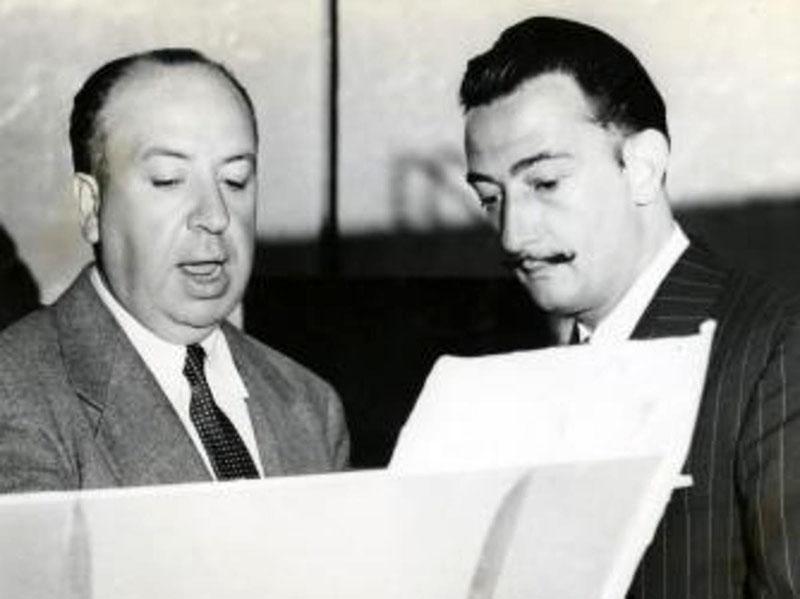 Afred Hitchcock és Dalí egyeztet