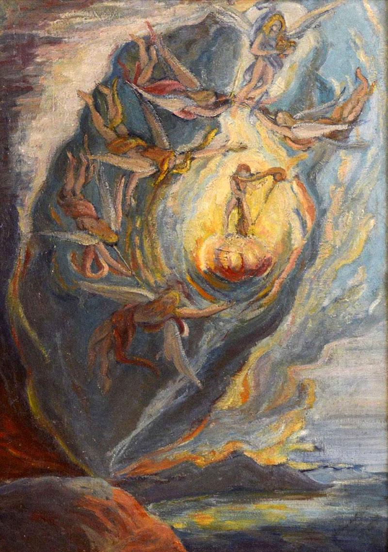 Dalí: Méhen belüli születés (1921)
