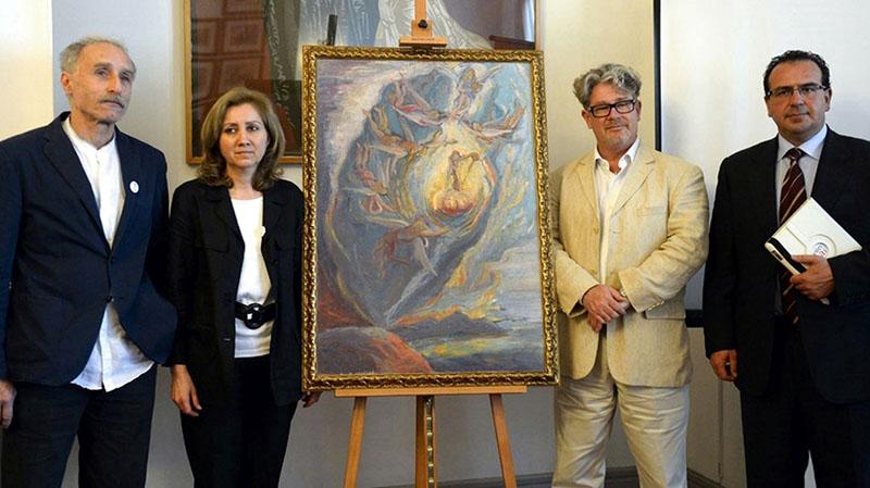 Dalí festményének bemutatása