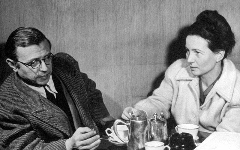 Jean-Paul Sartre társaságában