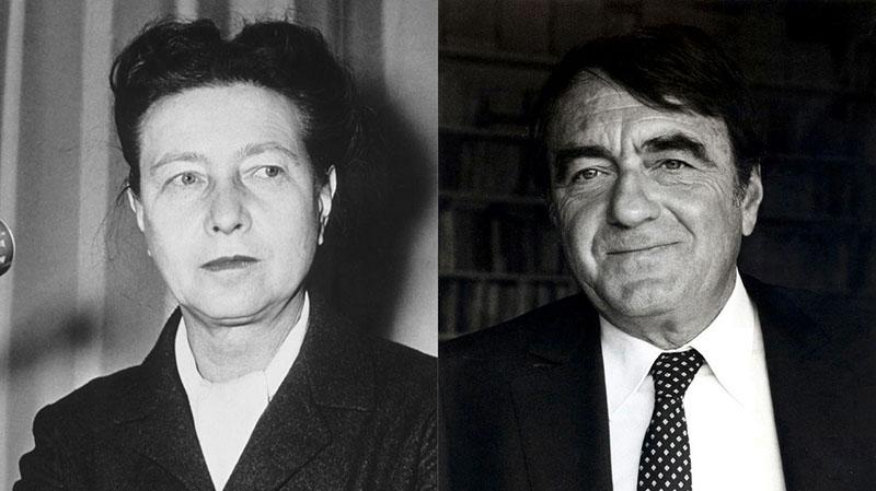 Beauvoir és Lanzmann