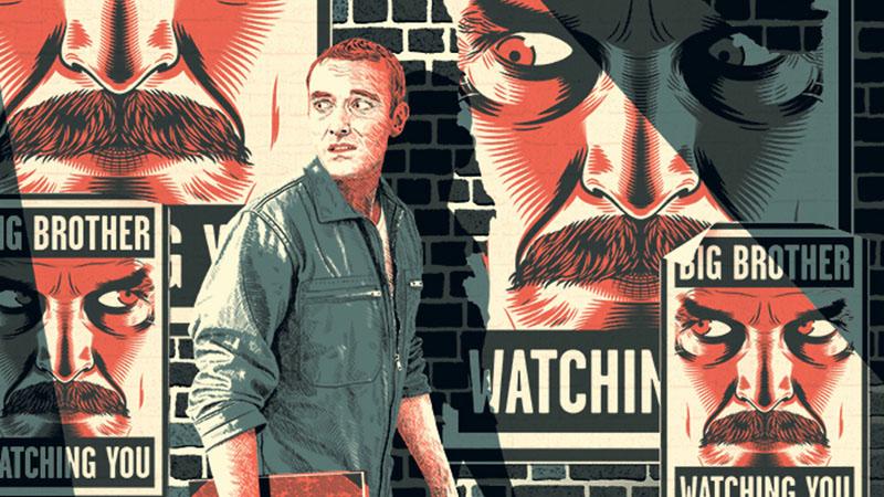 Illusztráció Orwell világhírű regényéhez