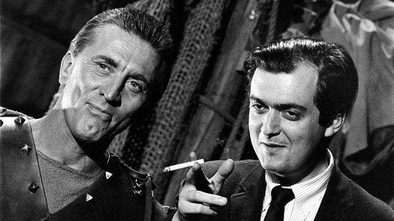 Douglas és Kubrick a Spartacus forgatásán
