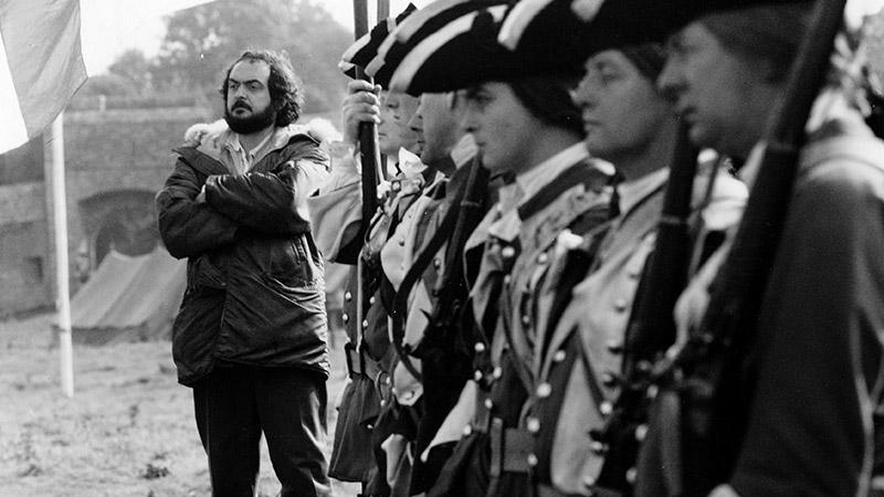 Kubrick a Barry Lyndon forgatásán