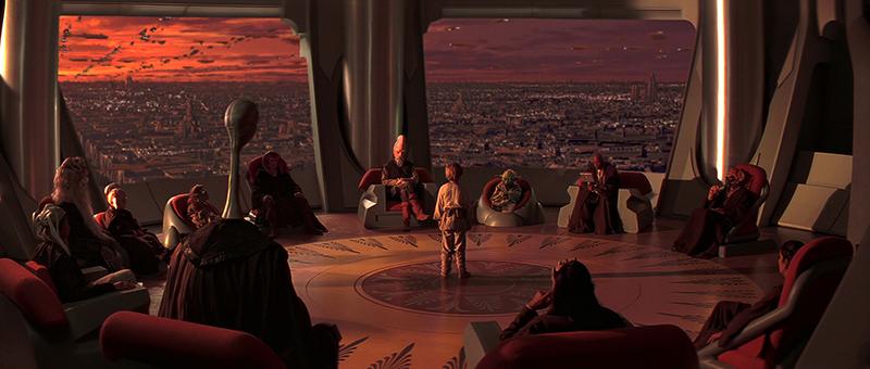 A dilettáns vonásokat mutató Jedi tanács