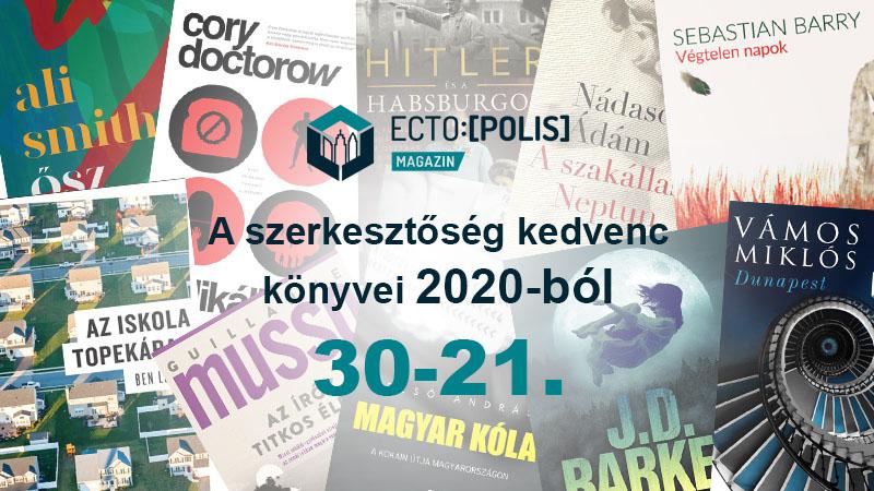A szerkesztőség kedvenc könyvei 2020-ból