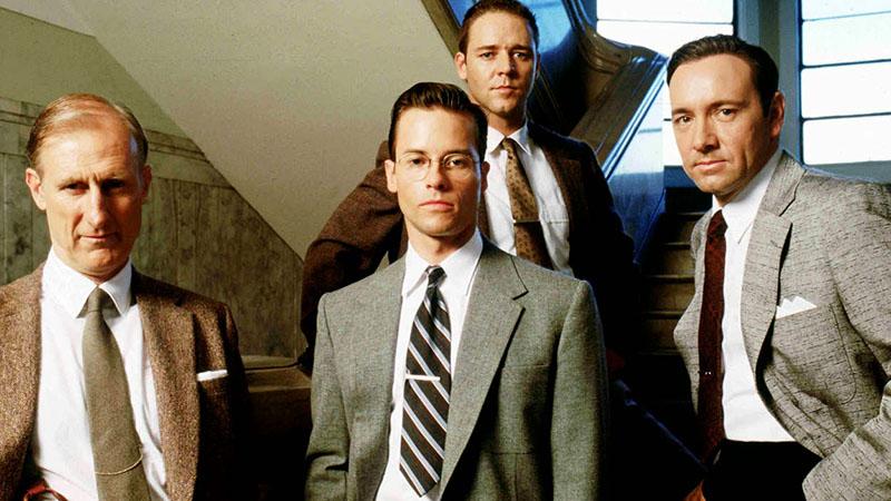A főszereplők, Cromwell, Pearce, Crowe és Spacey
