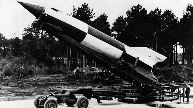 A V2-es rakéta egy éles teszten