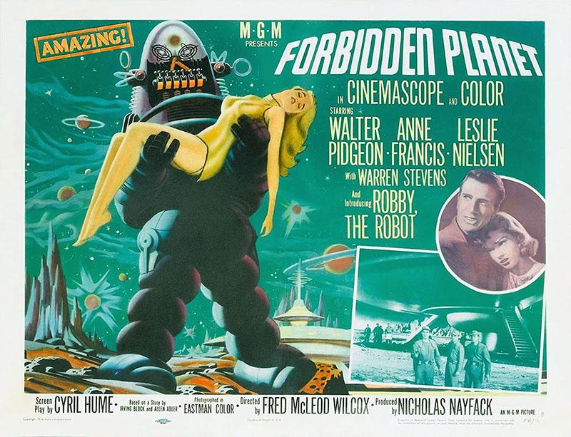 A Tiltott bolygó eredeti plakátja