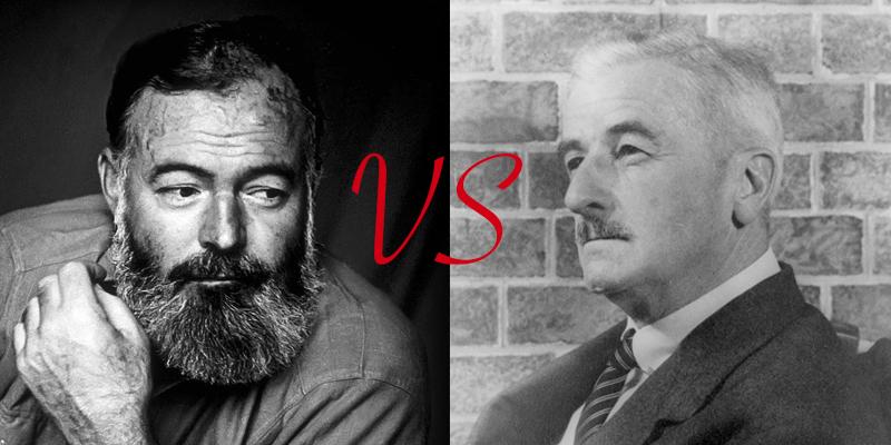 William Faulkner vs. Ernest Hemingway