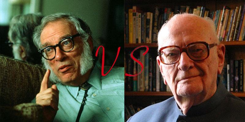 Isaac Asimov vs. Arthur C. Clarke