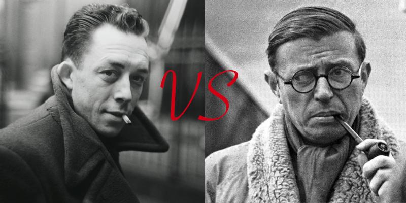 Albert Camus és Jean-Paul Sartre