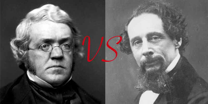 William Thackeray és Charles Dickens