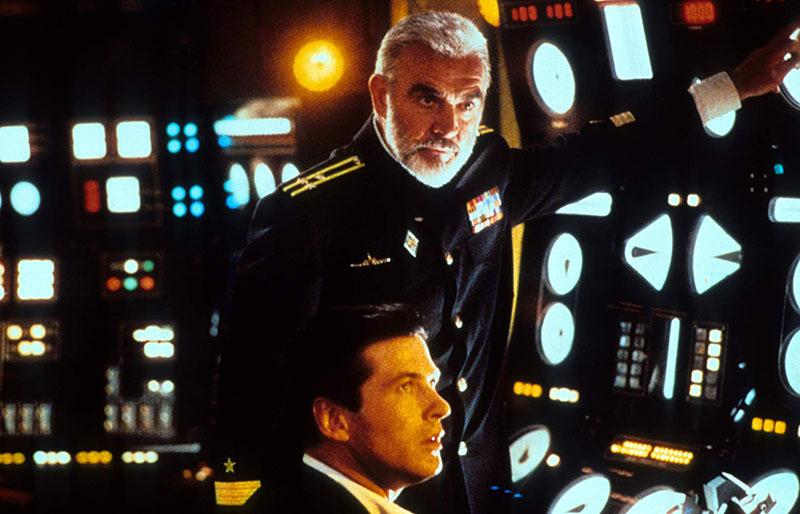 A filmadaptáció két főszereplője, Sean Connery és Alec Baldwin