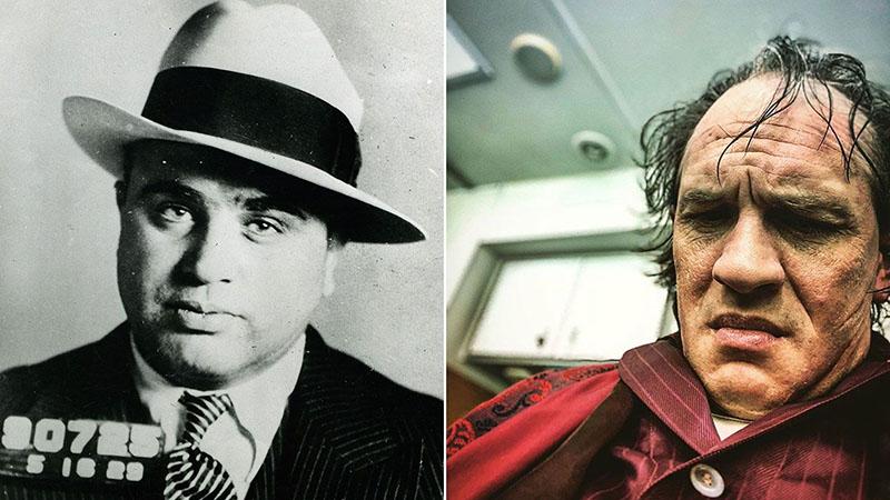 Capone és Tom Hardy, mint Capone