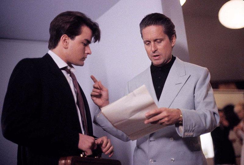 Sheen és Douglas a forgatókönyvet egyeztetik