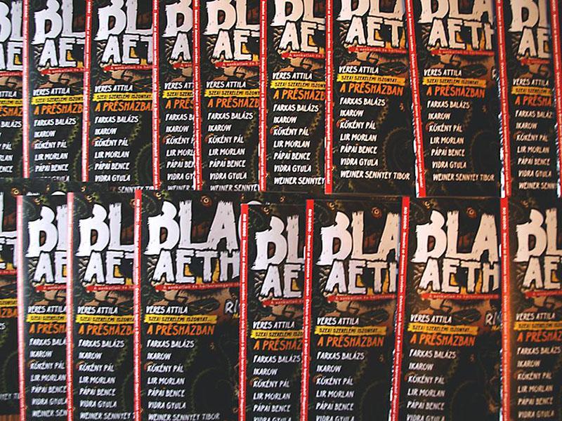 A The Black Aether magazin, ahol először jelentek meg Attila novellái