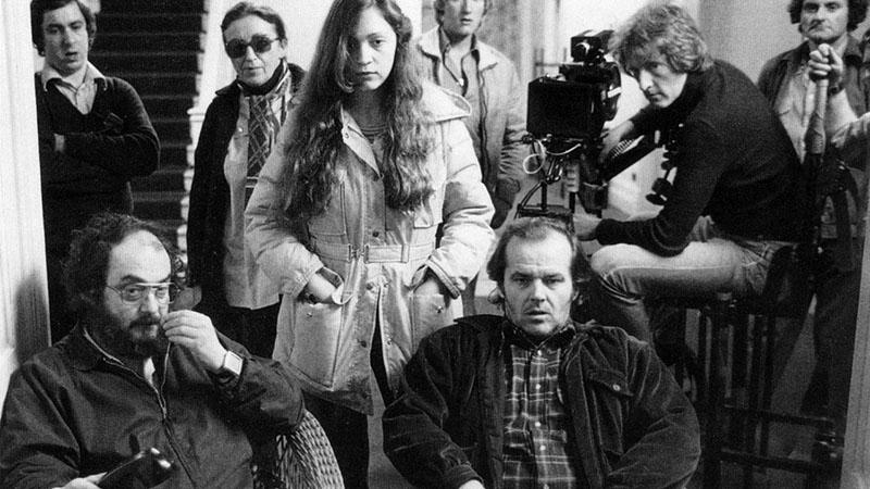 Kubrick és Nicholson a Ragyogás forgatásán