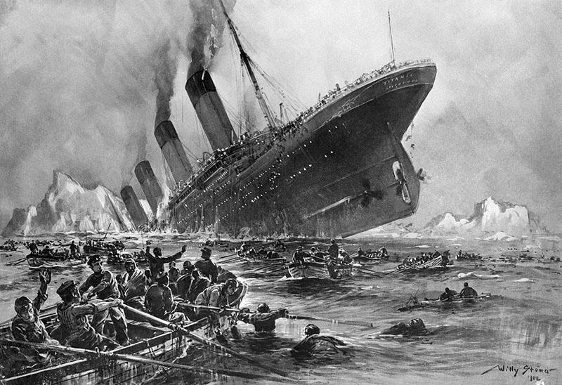 Az a bizonyos világhírű festmény a Titanicról