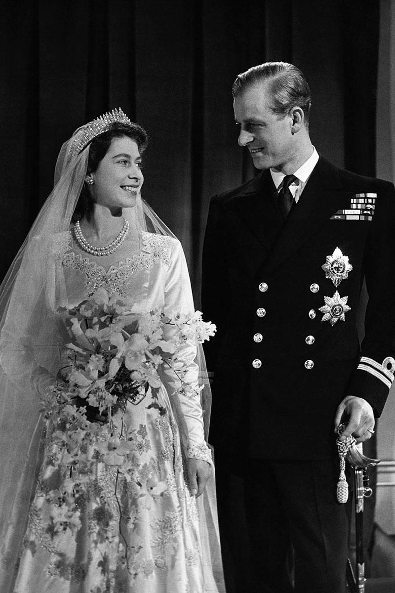 Erzsébet és Fülöp az esküvőn